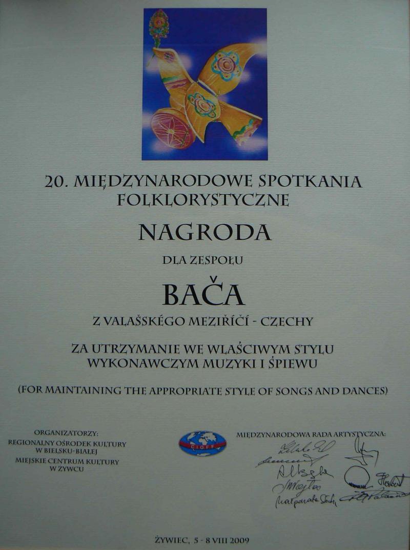 """Bača"" úspěšně reprezentoval v Polsku"